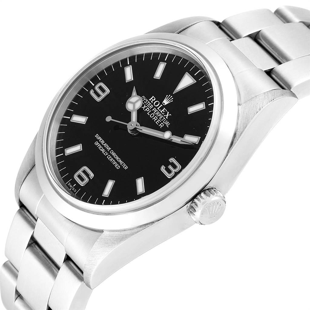 23494 Rolex Explorer I 36mm Black Dial Automatic Steel Mens Watch 14270 SwissWatchExpo