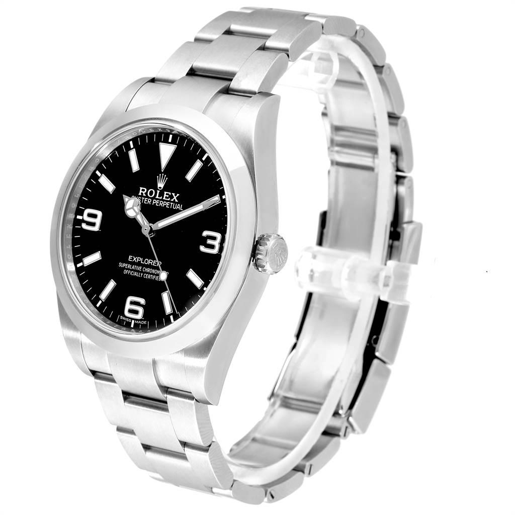 Rolex Explorer I 39 Luminous Arabic Numbers Mens Watch 214270 Box Card SwissWatchExpo