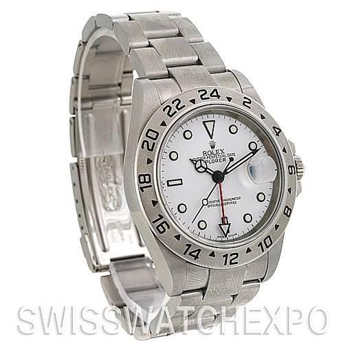 Rolex Explorer II 16570 Mens Steel Watch SwissWatchExpo