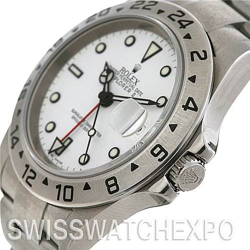 Rolex Explorer II 16570 Mens Steel Watch SwissWatchExpo