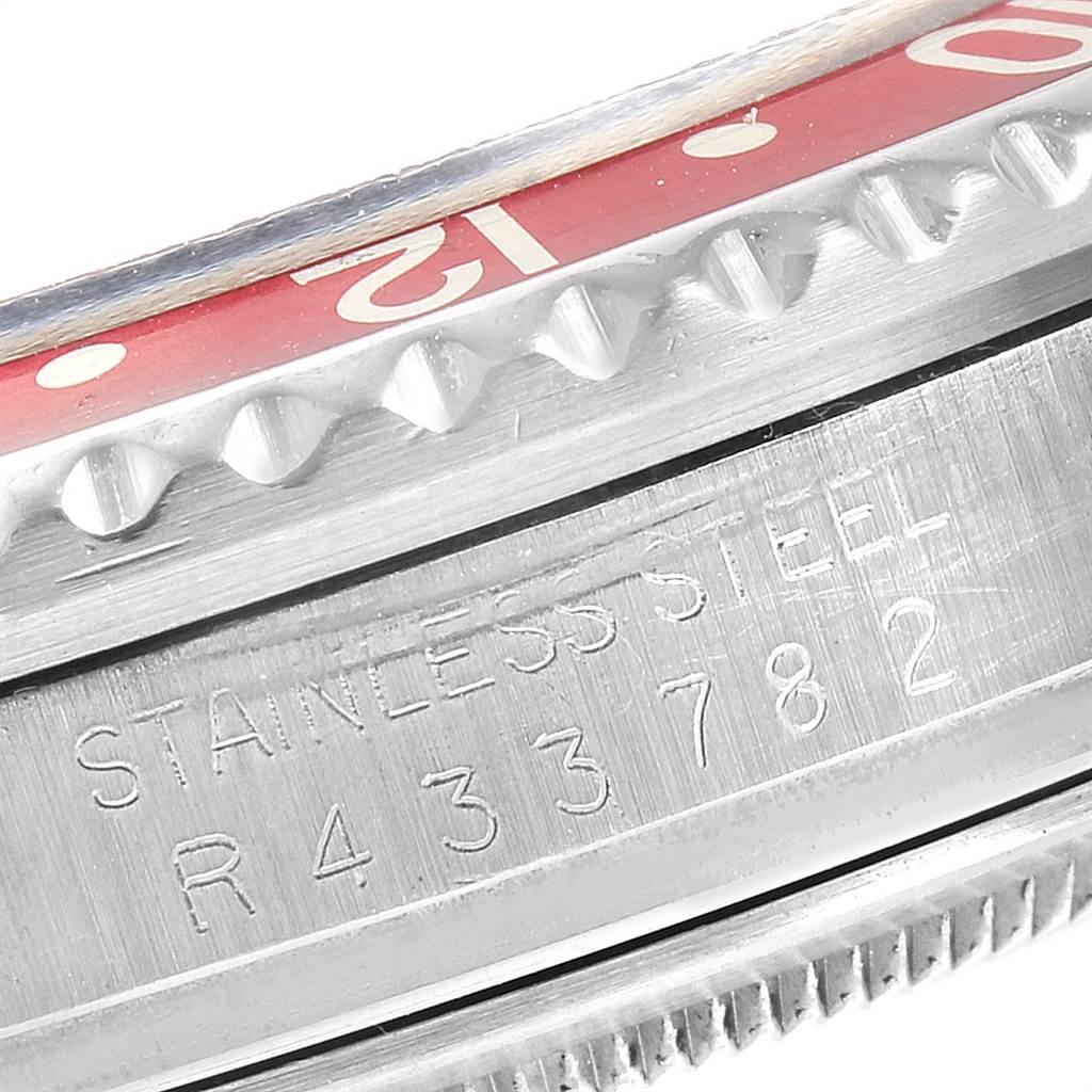 23505 Rolex GMT Master Fat Lady Vintage Coke Black Red Bezel Mens Watch 16760 SwissWatchExpo