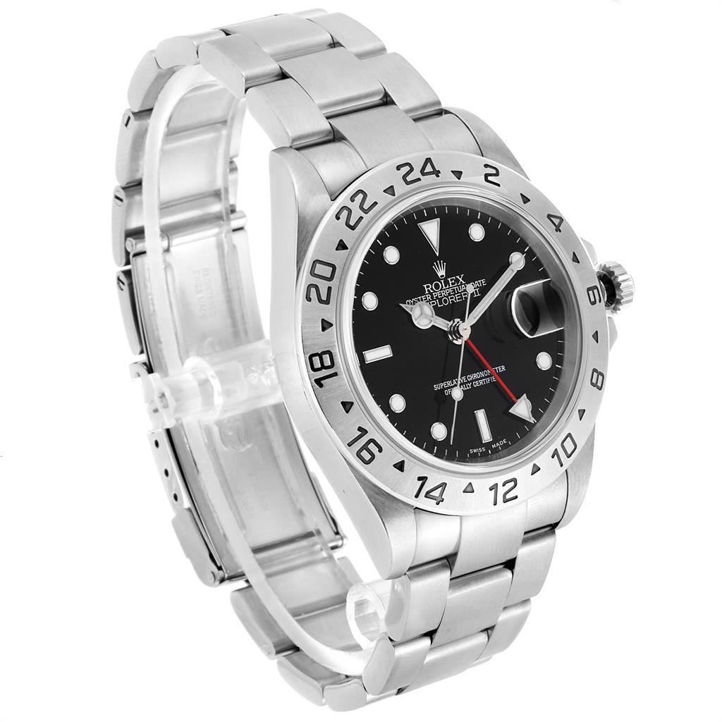 23560 Rolex Explorer II 40 Black Dial Red Hand Automatic Mens Watch 16570 SwissWatchExpo
