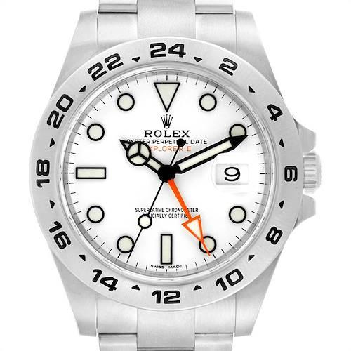 Photo of Rolex Explorer II 42 Orange Hand Steel Mens Watch 216570 Unworn