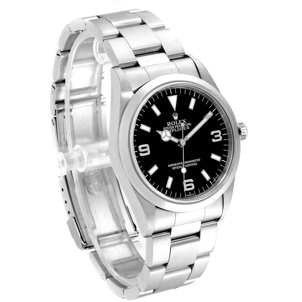 Rolex Explorer I 36mm Black Dial Automatic Steel Mens Watch 14270 SwissWatchExpo