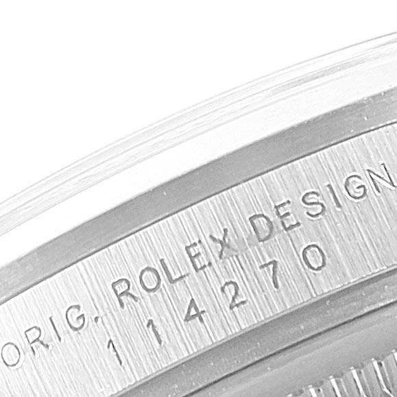Rolex Explorer I 36mm Black Dial Steel Mens Watch 114270 SwissWatchExpo