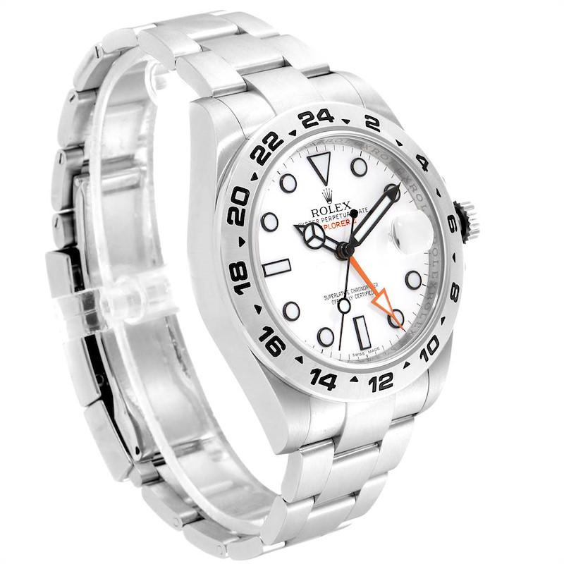 Rolex Explorer II 42 Orange Hand Steel Mens Watch 216570 Box Card SwissWatchExpo