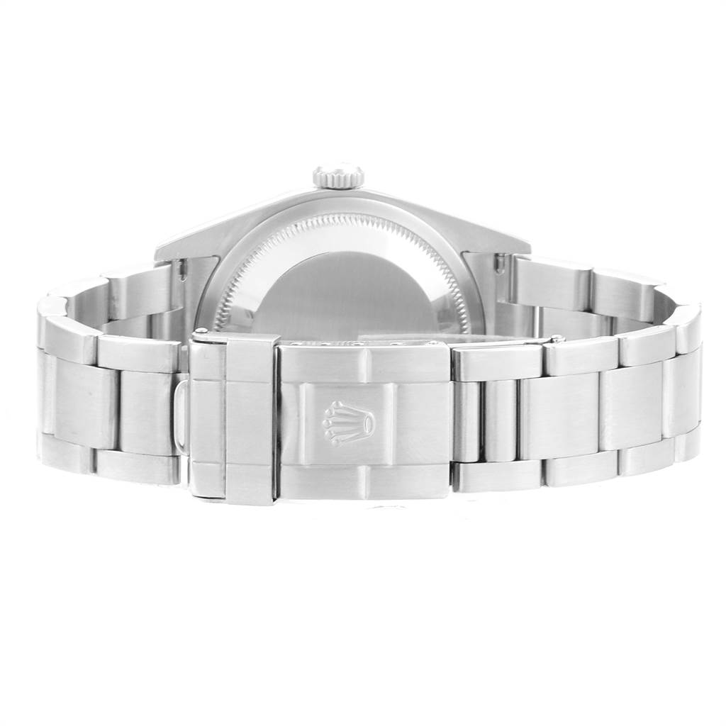 Rolex Explorer I Black Dial Domed Bezel Steel Mens Watch 114270 SwissWatchExpo