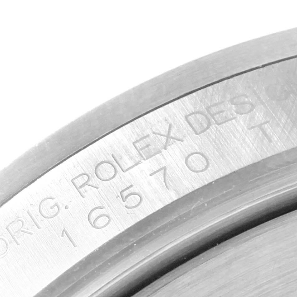 Rolex Explorer II White Dial Red Hand Steel Mens Watch 16570 SwissWatchExpo