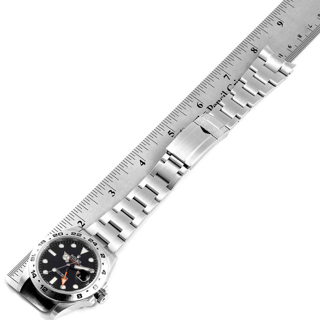 24160X Rolex Explorer II 42 Black Dial Orange Hand Mens Watch 216570 SwissWatchExpo
