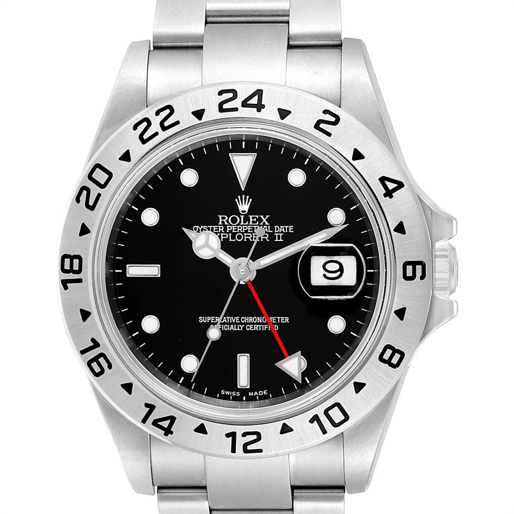 Rolex Explorer II 40 Black Dial Automatic Steel Mens Watch 16570