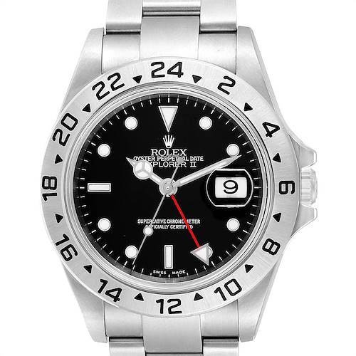 Photo of Rolex Explorer II 40 Black Dial Automatic Steel Mens Watch 16570