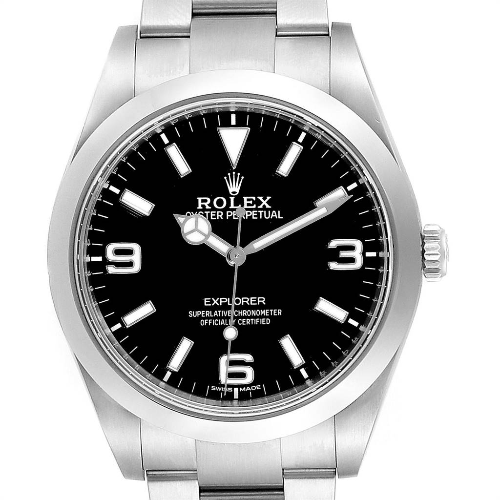 Rolex Explorer I 39 Luminescent Arabic Numerals Mens Watch 214270 SwissWatchExpo
