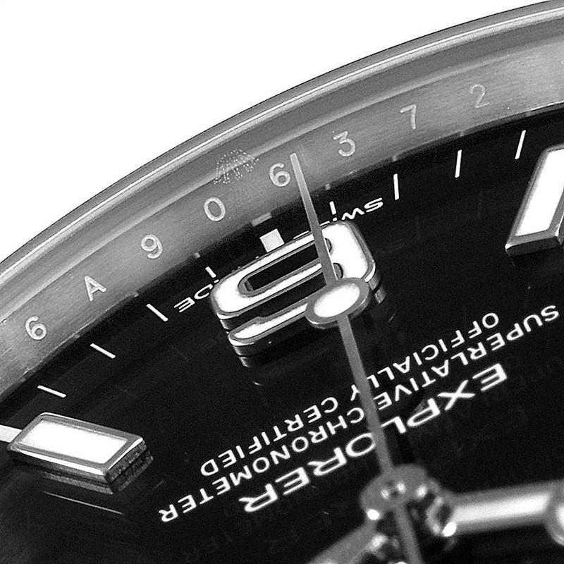 Rolex Explorer I Luminescent Arabic Numerals Mens Watch 214270 Box Card SwissWatchExpo