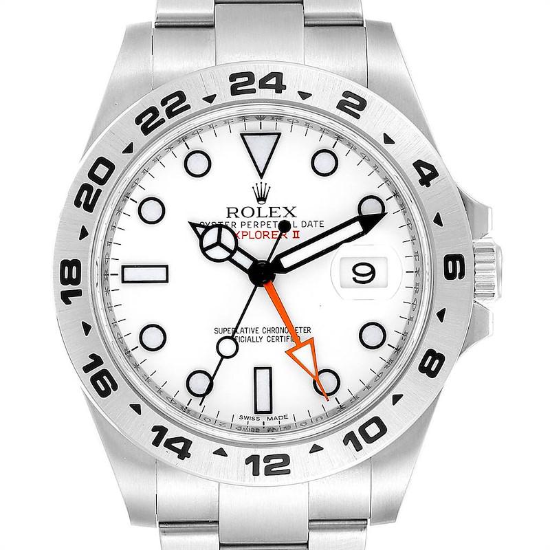 Rolex Explorer II 42mm Orange Hand Steel Mens Watch 216570 Unworn SwissWatchExpo