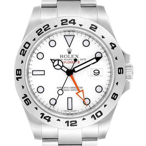 Photo of Rolex Explorer II 42mm Orange Hand Steel Mens Watch 216570 Unworn