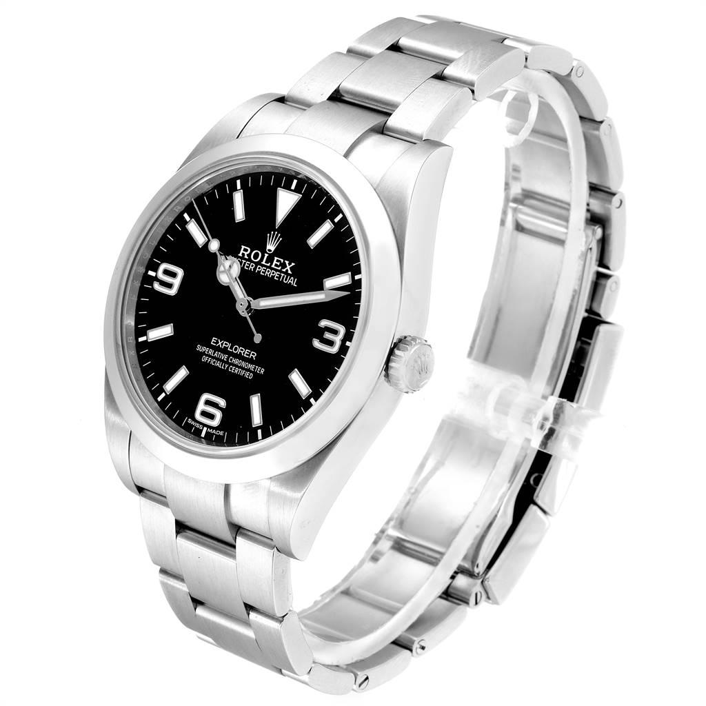 25083 Rolex Explorer I 39 Luminescent Arabic Numerals Mens Watch 214270 SwissWatchExpo