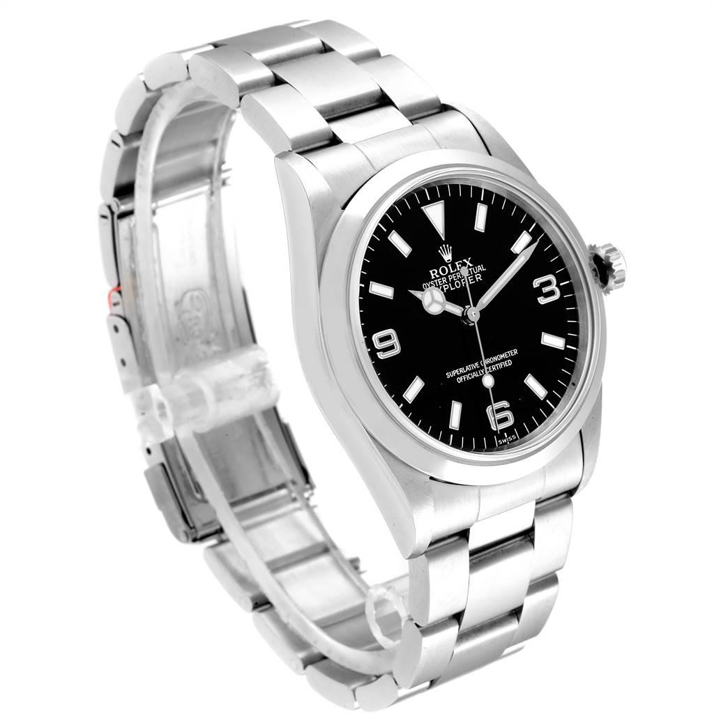 Rolex Explorer I 36mm Black Dial Steel Mens Watch 14270 Unworn SwissWatchExpo