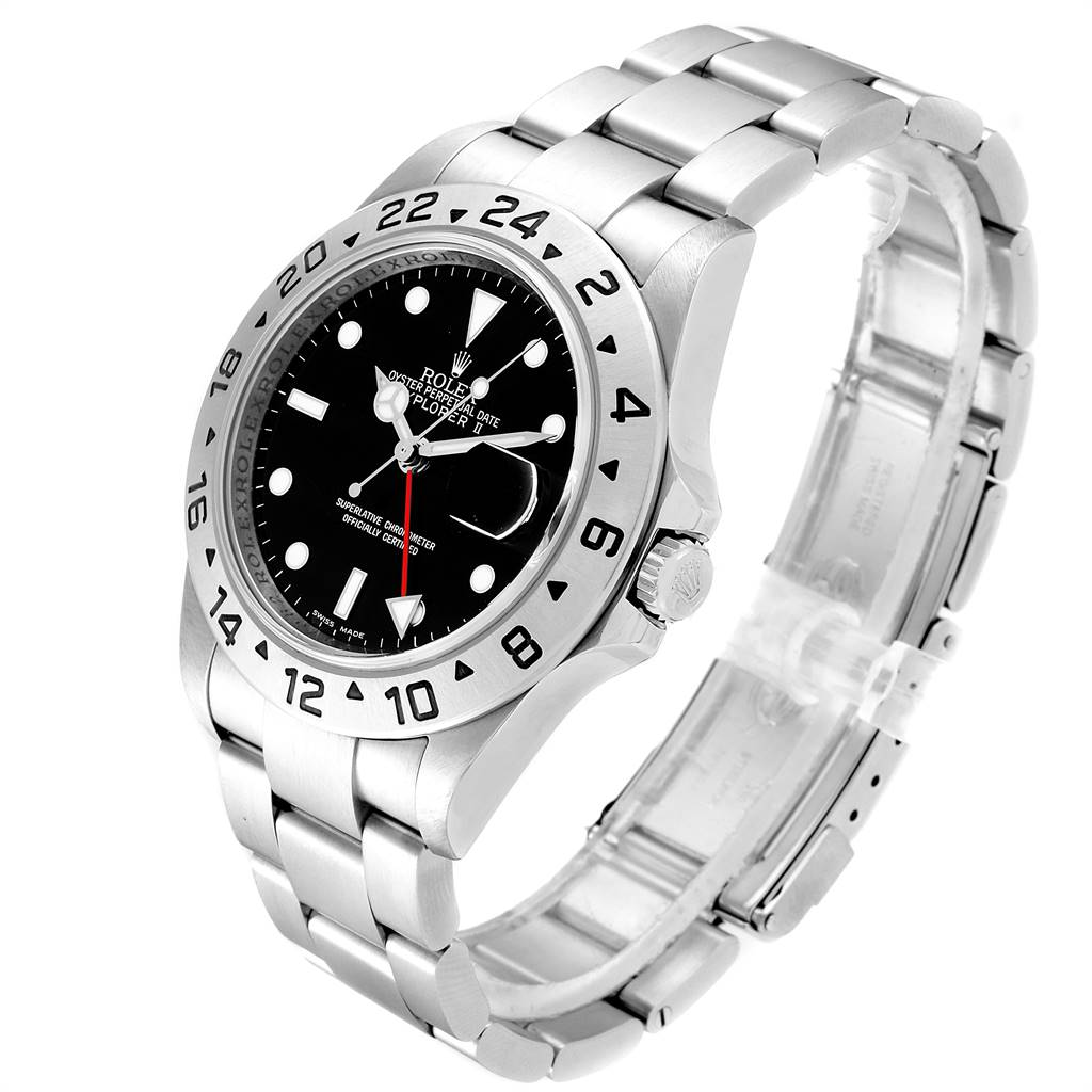 Rolex Explorer II 40mm Black Dial Parachrom Hairspring Mens Watch 16570 PARTIAL PAYMENT SwissWatchExpo
