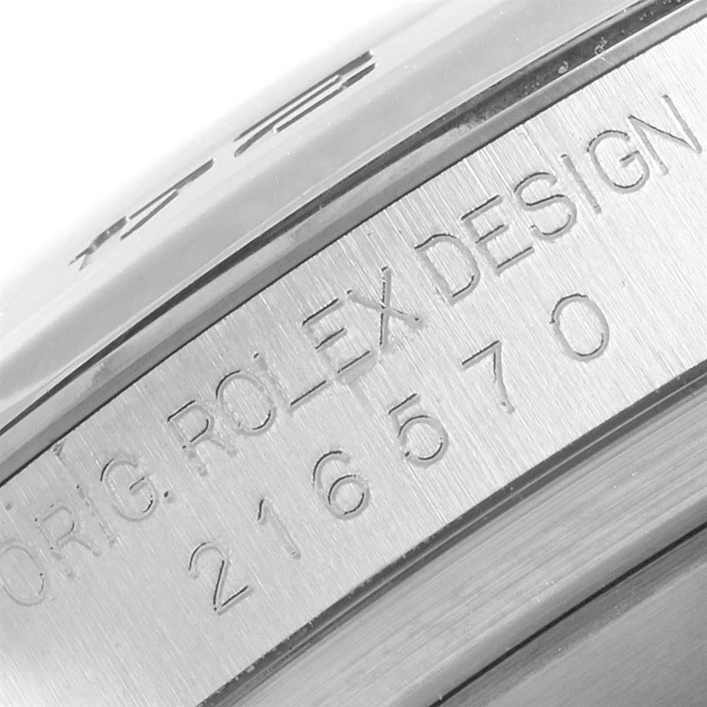 Rolex Explorer II 42 Black Dial Orange Hand Mens Watch 216570 SwissWatchExpo