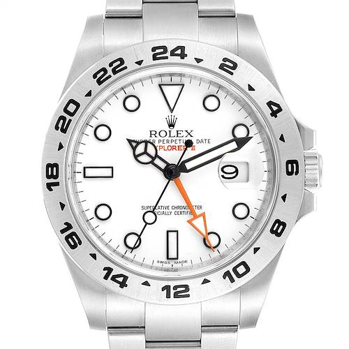 Photo of Rolex Explorer II 42 White Dial Orange Hand Steel Mens Watch 216570