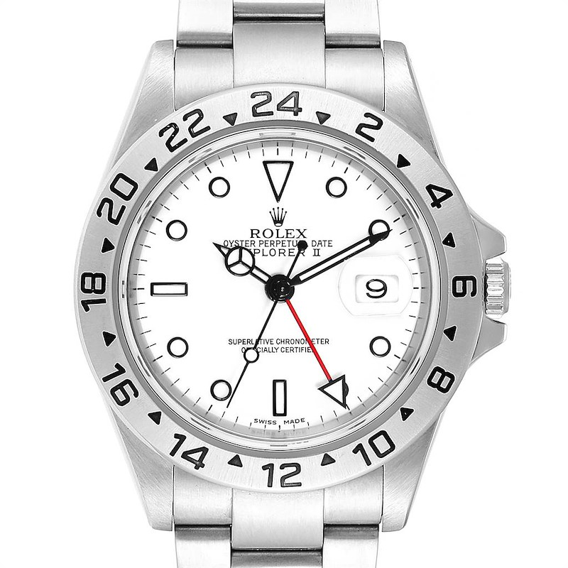 Rolex Explorer II White Dial Automatic Steel Mens Watch 16570 PARTIAL PAYMENT SwissWatchExpo