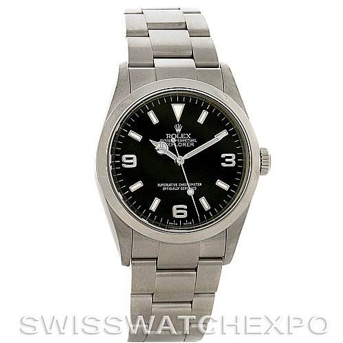 2819 Rolex Mens  Explorer I watch 114270 F Serial Unworn NOS SwissWatchExpo