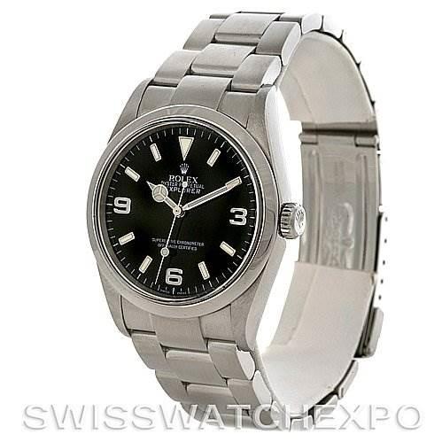 Mens Rolex Explorer I Steel Watch 114270 circa 2007 SwissWatchExpo