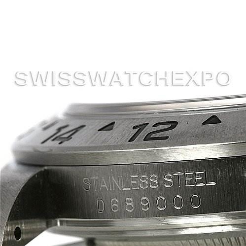 2993 Rolex Explorer II 16570 Mens Steel Black Dial Watch SwissWatchExpo