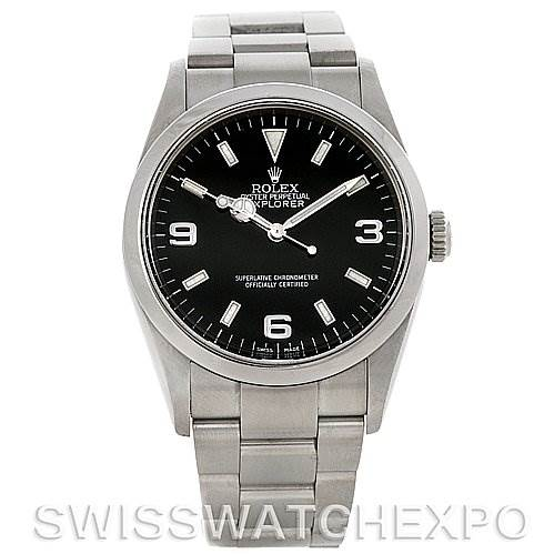 4127 Mens Rolex Explorer I Steel Watch 114270 Year 2005 SwissWatchExpo