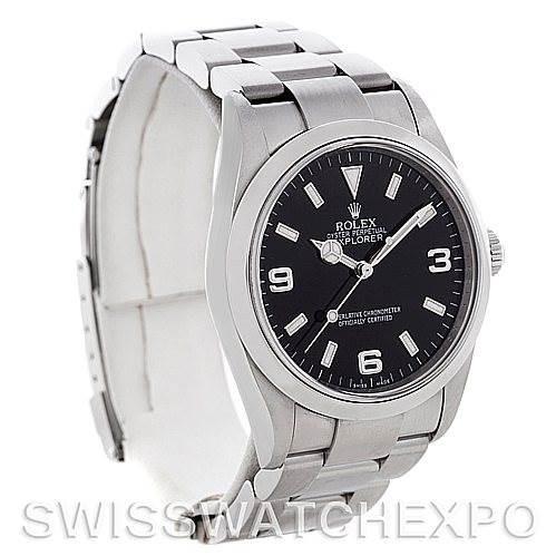 Mens Rolex Explorer I Steel Watch 114270 SwissWatchExpo