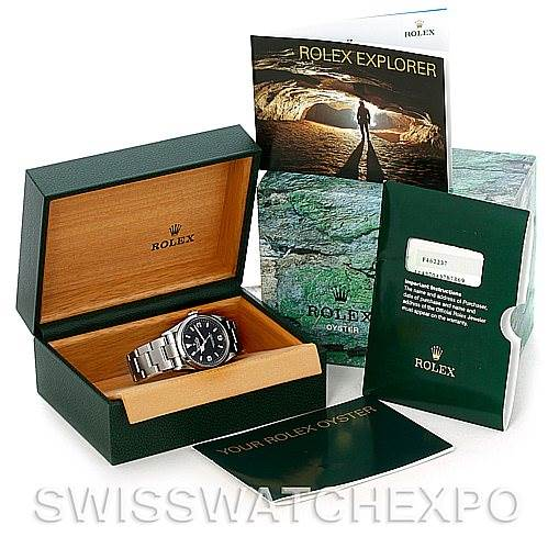 5132 Mens Rolex Explorer I Steel Watch 114270 SwissWatchExpo