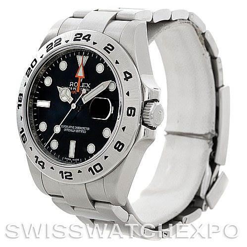 Rolex Explorer II 216570 Mens Steel Black Dial Watch SwissWatchExpo