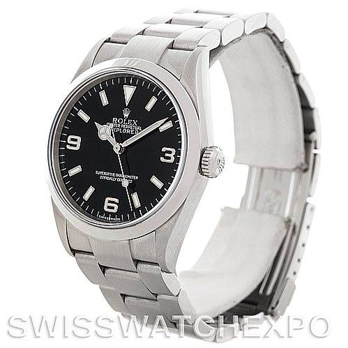 5492 Mens Rolex Explorer I Steel Men's Watch 114270 SwissWatchExpo