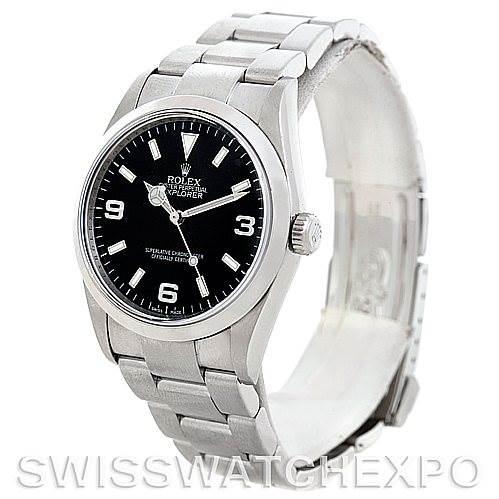 Mens Rolex Explorer I Steel Men's Watch 114270 SwissWatchExpo