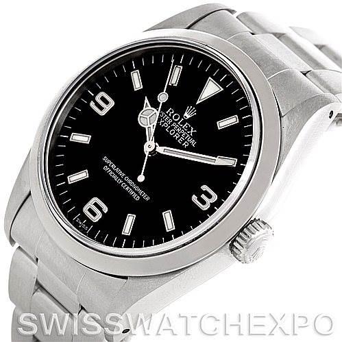 Mens Steel Rolex Explorer I Watch 14270 SwissWatchExpo