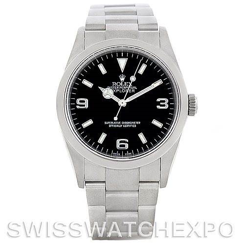 Mens Rolex Explorer I Steel Mens Watch 114270 SwissWatchExpo