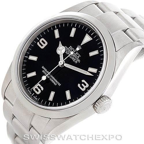 Mens Rolex Explorer I Steel Mens Watch 114270 SwissWatchExpo