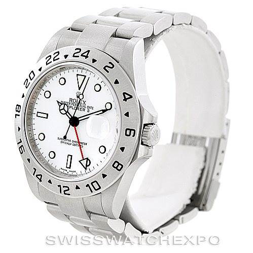 Rolex Explorer II Mens Steel White Dial Watch 16570 Unworn SwissWatchExpo