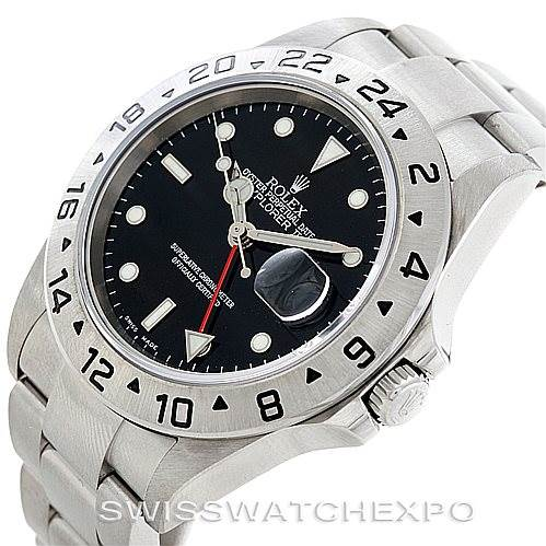 Rolex Explorer II 16570 Mens Steel Black Dial Watch Unworn SwissWatchExpo