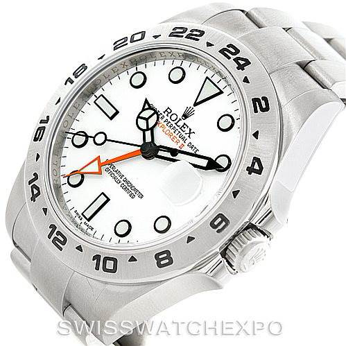 Rolex Explorer II Mens Steel White Dial Watch 216570 SwissWatchExpo
