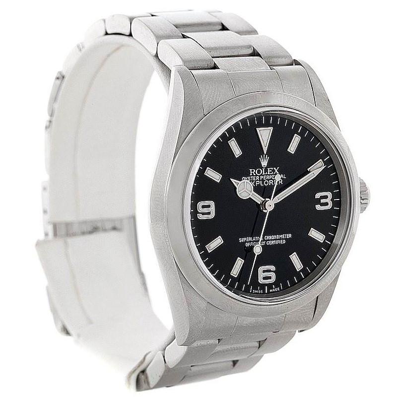 Rolex Explorer I Mens Steel Watch 14270 SwissWatchExpo