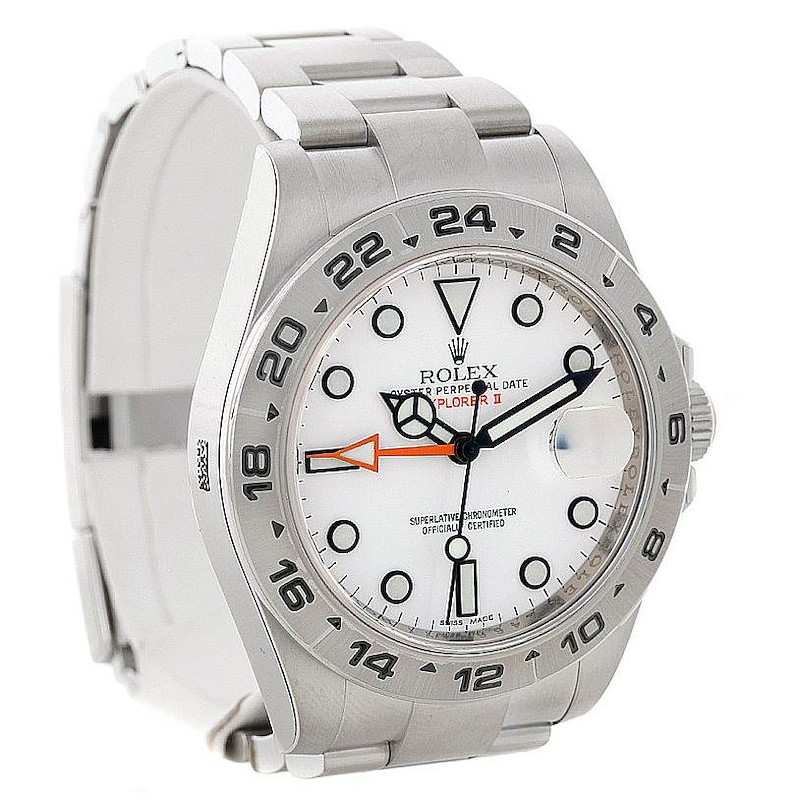 Rolex Explorer II Mens Steel White Dial Watch 216570 Unworn SwissWatchExpo