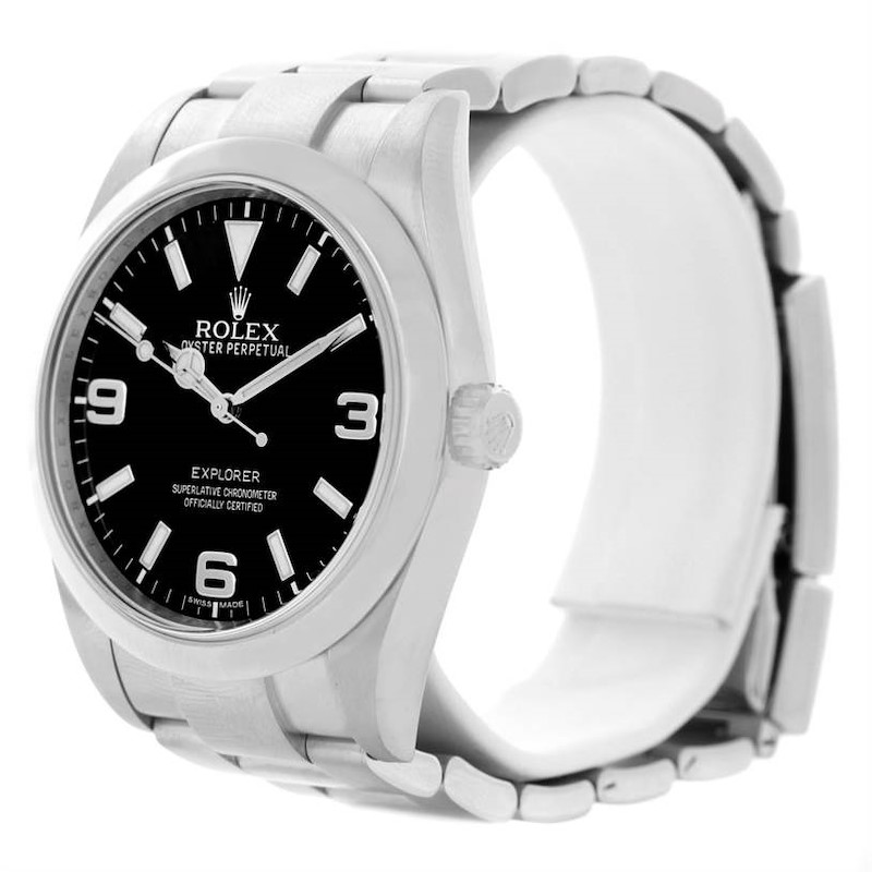 Rolex Explorer I Stainless Steel Automatic Mens Watch 214270 SwissWatchExpo