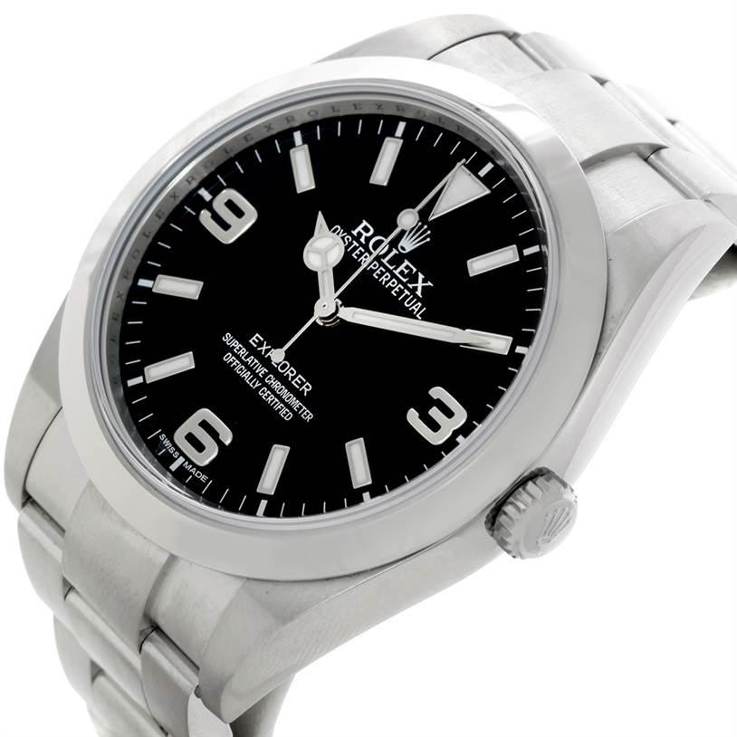 Rolex Explorer I Stainless Steel Mens Watch 214270 SwissWatchExpo