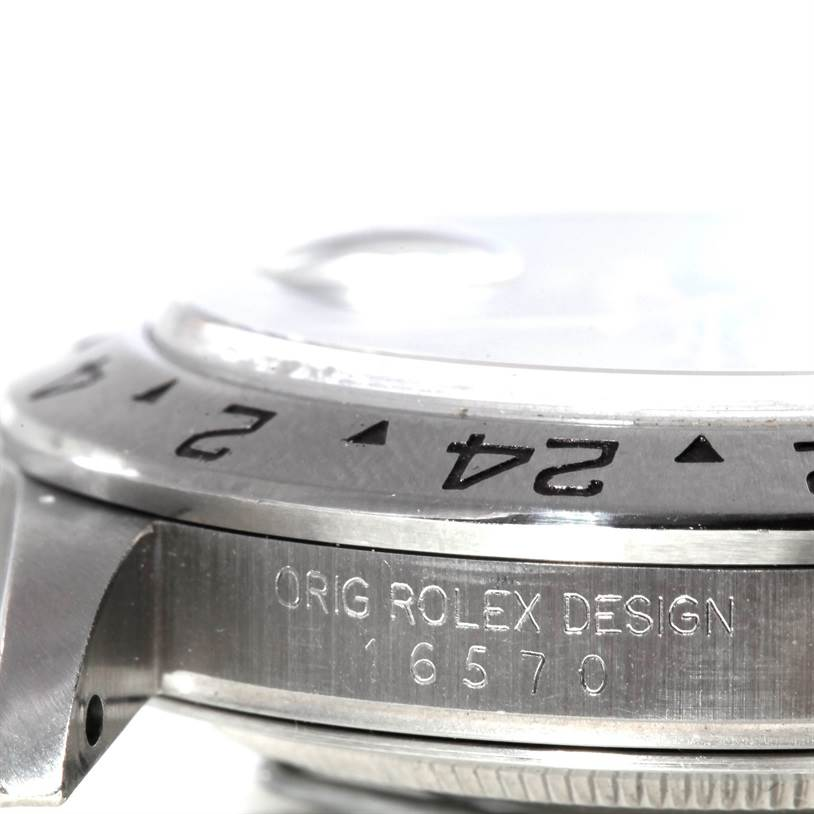 8386 Rolex Explorer II Mens Steel Black Dial Watch 16570 SwissWatchExpo