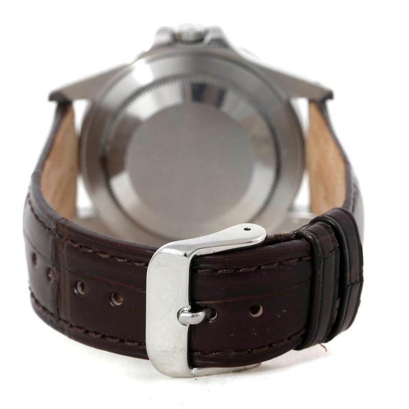 Rolex Explorer II Transitional Mens Steel White Dial Watch 16550 SwissWatchExpo