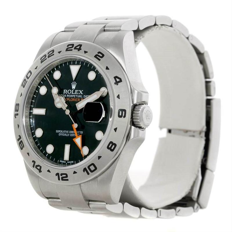 Rolex Explorer II Mens Steel Black Dial Watch 216570 SwissWatchExpo