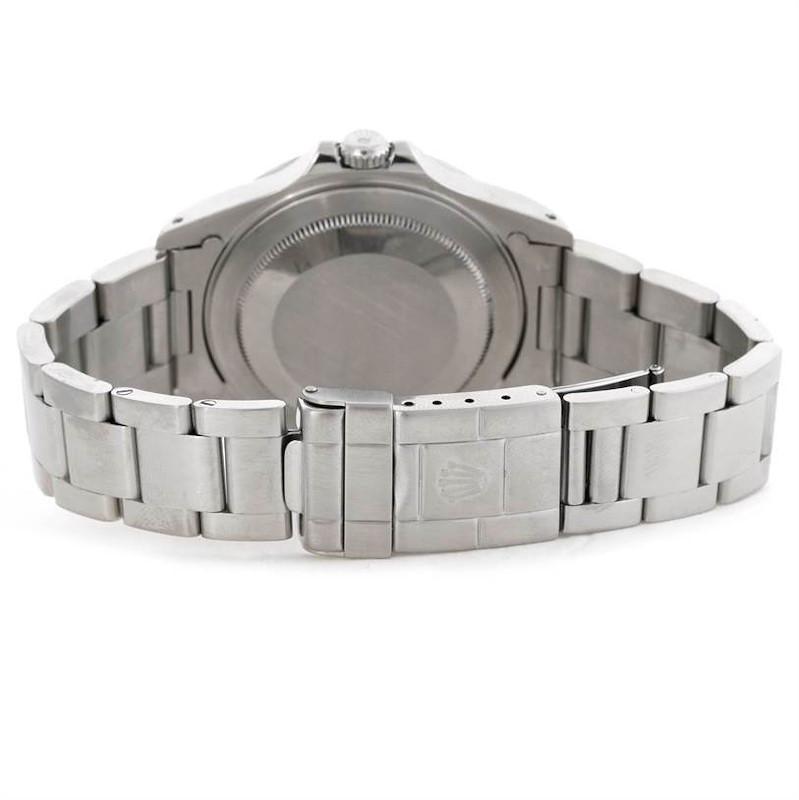 Rolex Explorer II Mens Stainless Steel White Dial Watch 16570 SwissWatchExpo