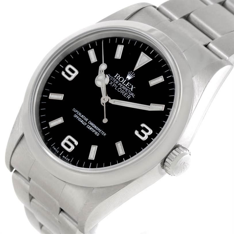 Rolex Explorer I Mens Stainless Steel Watch 14270 SwissWatchExpo