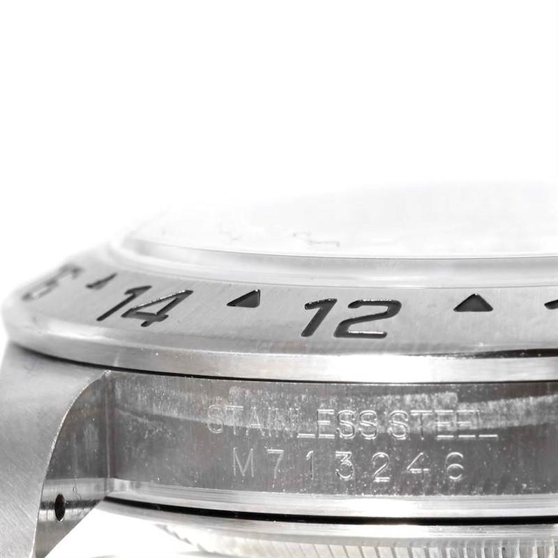 Rolex Explorer II Steel White Dial Parachrom Hairspring Watch 16570 SwissWatchExpo